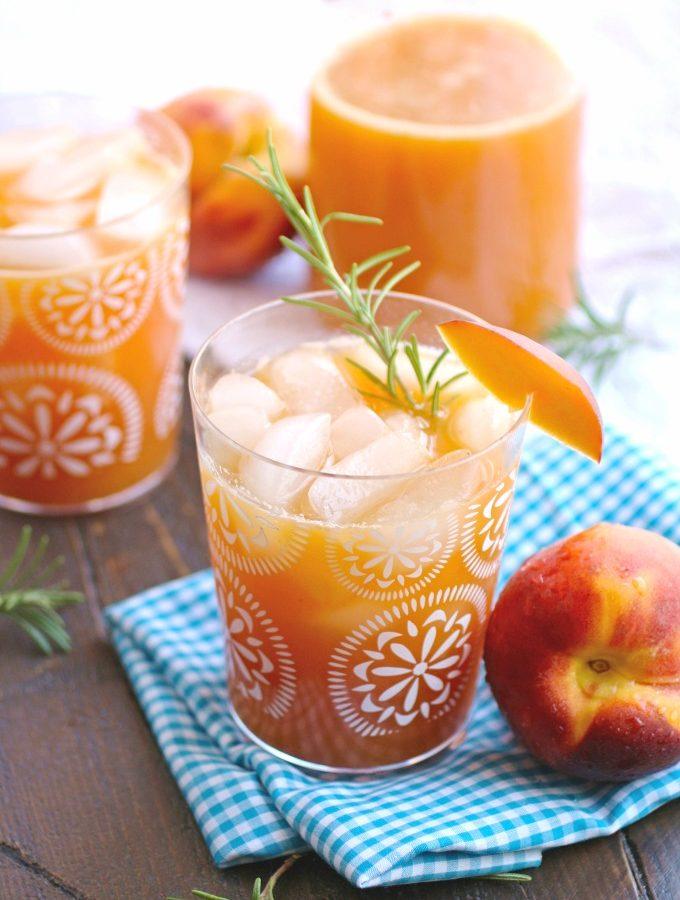 Peach-Rosemary Agua Fresca
