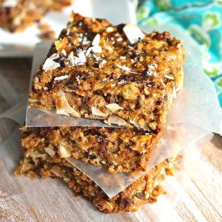 Chewy Coconut and Dried Fruit Bars are a super-tasty treat with a healthy vibe. You'll love these chewy fruit and coconut bars!