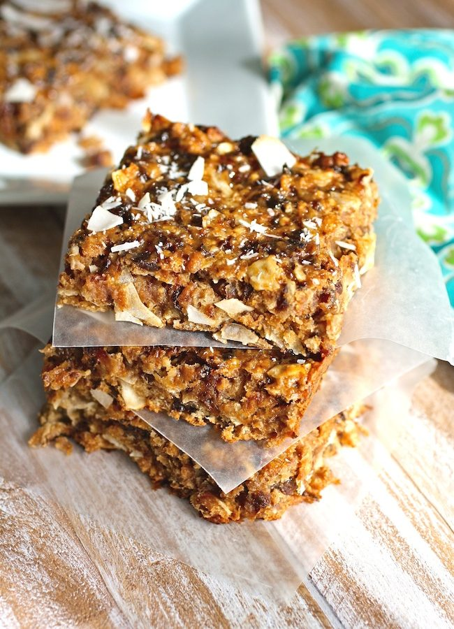 Chewy Coconut and Dried Fruit Bars