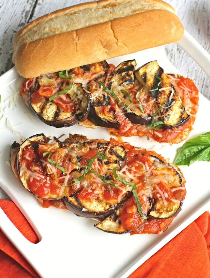 Grilled Eggplant Sandwiches with Jalapeño-Spiced Marinara