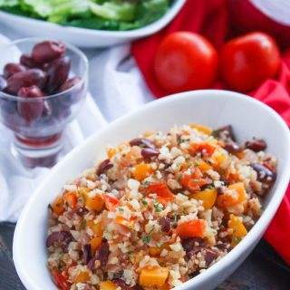 Mediterranean Cauliflower Rice is a fabulous and healthy dish from the ADA. You'll love the flavors in this cauliflower rice dish.