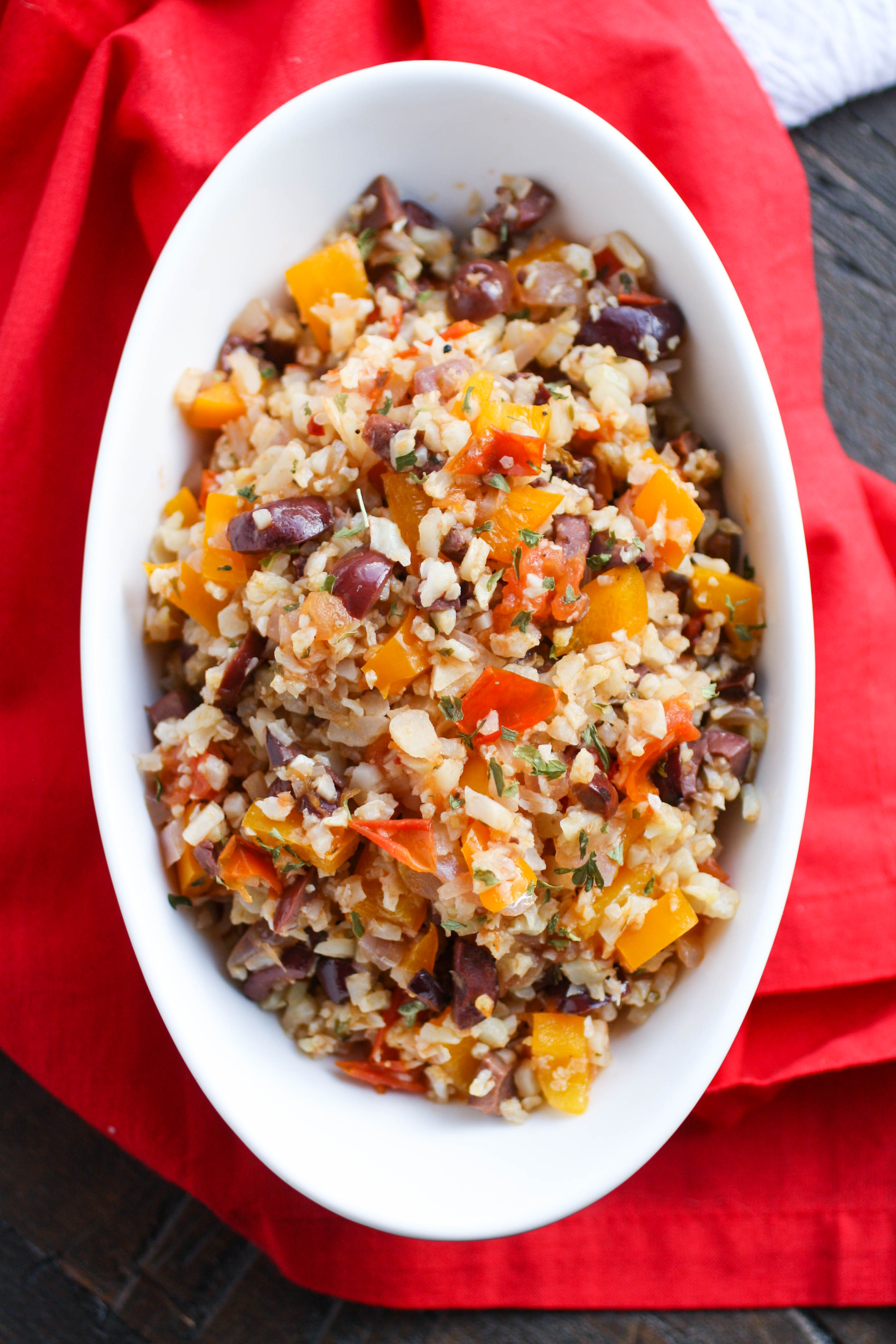 Mediterranean Cauliflower Rice is a colorful and flavorful dish perfect for any meal. This cauliflower rice dish is from the American Diabetes Association and it's delicious!