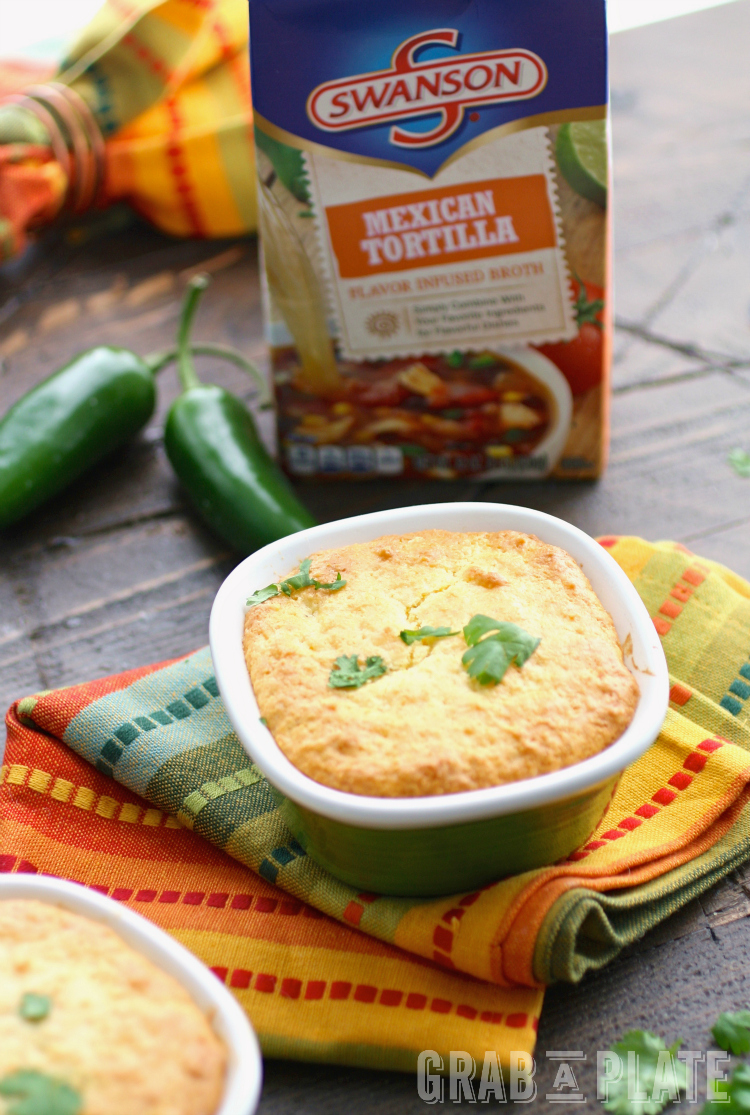 Bring a Mexican flair to your next meal with Mini Turkey Cornbread Pot Pies!