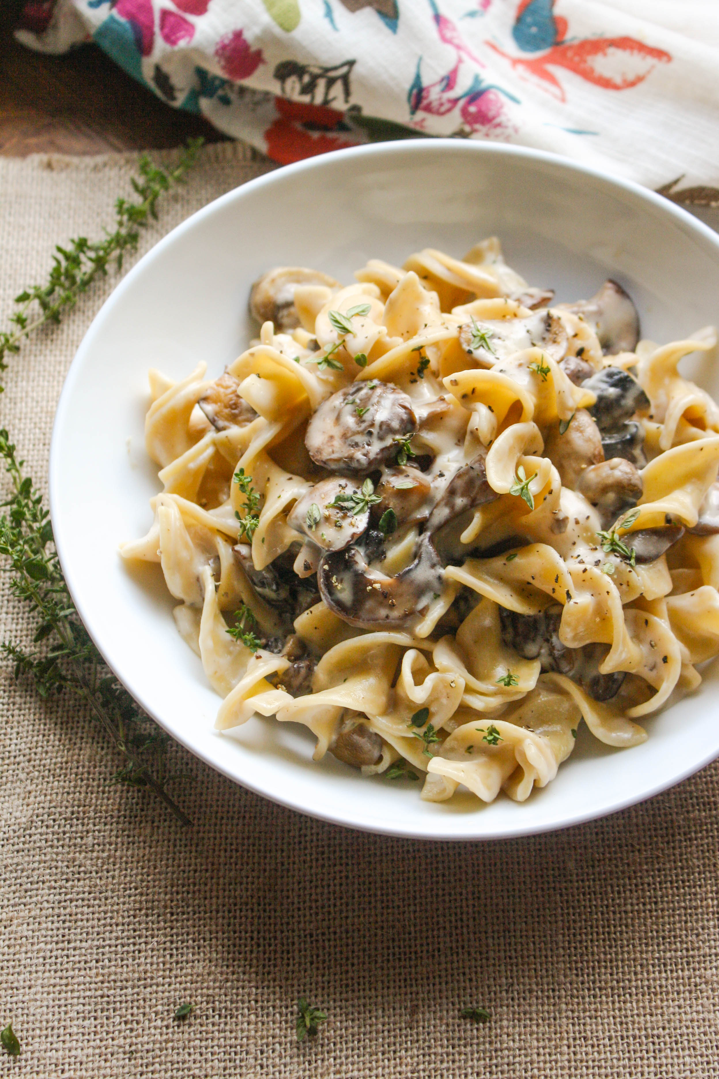 Mushroom Stroganoff is a flavorful and comforting meal perfect on a chilly night. You'll love this classic noodle dish with a twist!