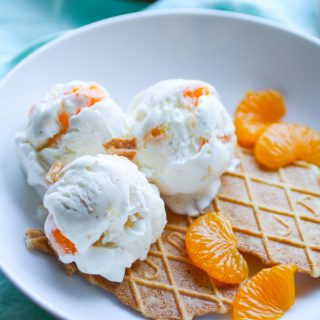 No Churn Orange-Cardamom Ice Cream is a lovely treat anytime of year! This ice cream is easy to make and so flavorful, too!