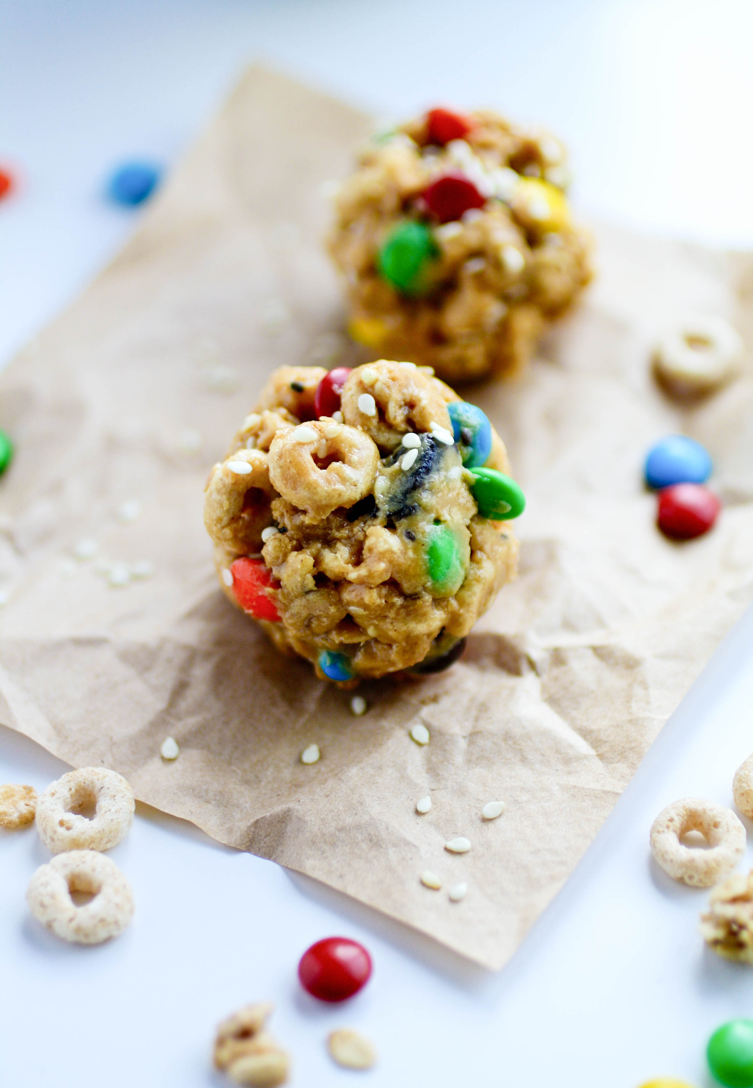 No-Bake Monster Cereal Bites are fun to make as anytime treats! You'll love these easy-to-make snacks!