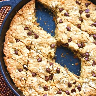 This recipe for Oatmeal-Chocolate Chip Skillet Cookie is a classic treat with a twist
