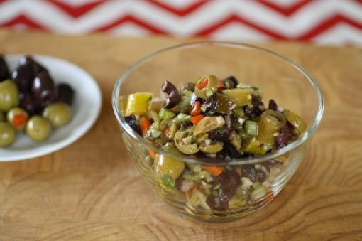 Olive Salad for Eggplant Muffuletta Sandwiches