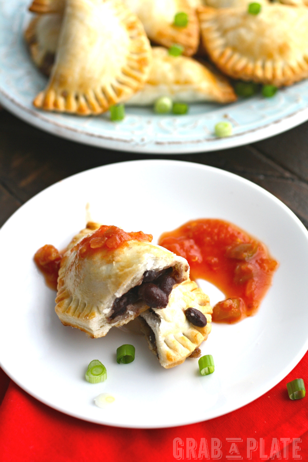 Mushroom and Black Bean Empanadas make a fun snack or a light meal.