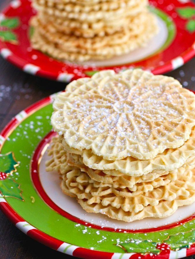 Orange-Amaretto Pizzelle Cookies