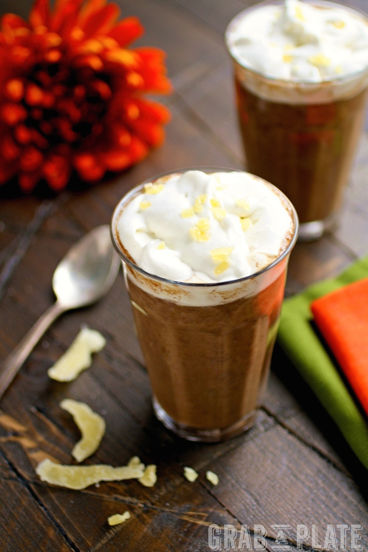 Enjoy a delightful, seasonal hot drink with Pumpkin Mochas with Ginger Whipped Topping. Real pumpkin, chocolate, and ginger bring all the goodness together!