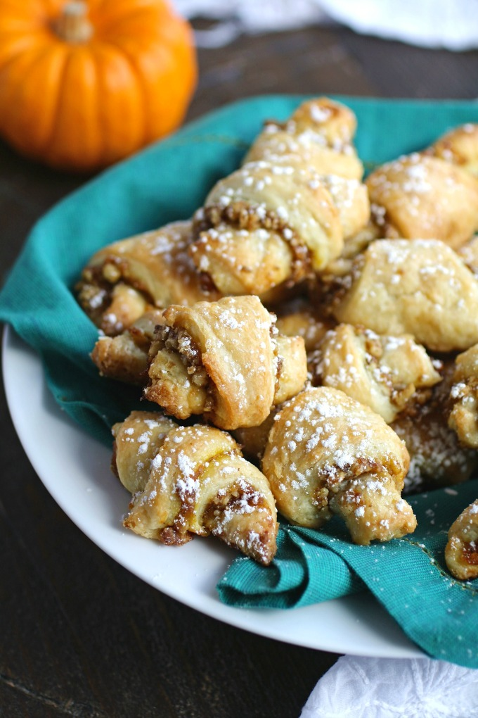 A batch of Pumpkin and Walnut Rugelach Cookies is something special!