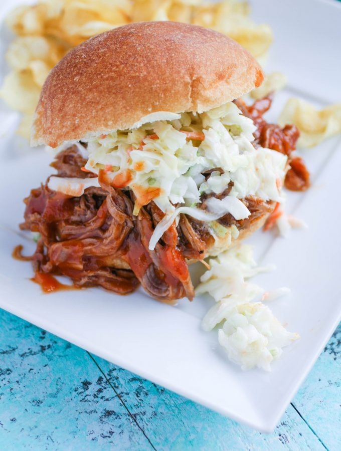 Slow Cooker BBQ Beef Sandwiches are a crowd pleaser! These sandwiches are so easy to make, and you'll love the BBQ sauce!