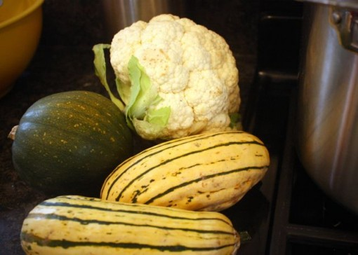 Squash and cauliflower
