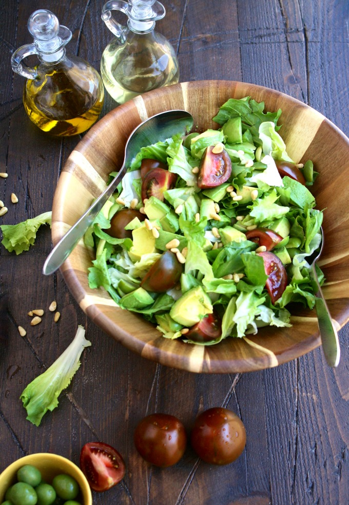 This Simple Summer Escarole Salad is wonderful when the warm weather hits!