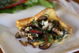 Swiss Chard and Mushroom Popover Bake