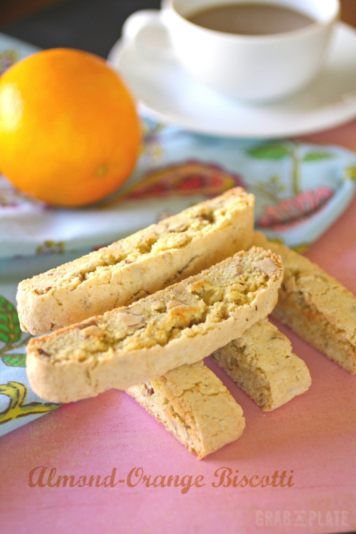Almond-Orange Biscotti are delicious and dunkable
