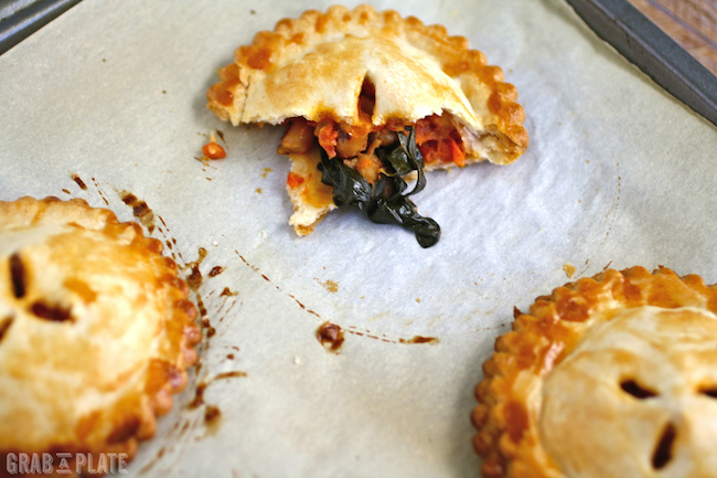 Bake a batch of Black-eyed Peas, Spinach, and Creamy Tomato Hand Pies