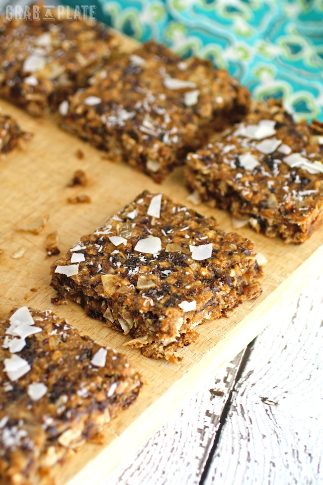 Full of flavor and healthy ingredients, Chewy Coconut and Dried Fruit Bars make a great snack or dessert