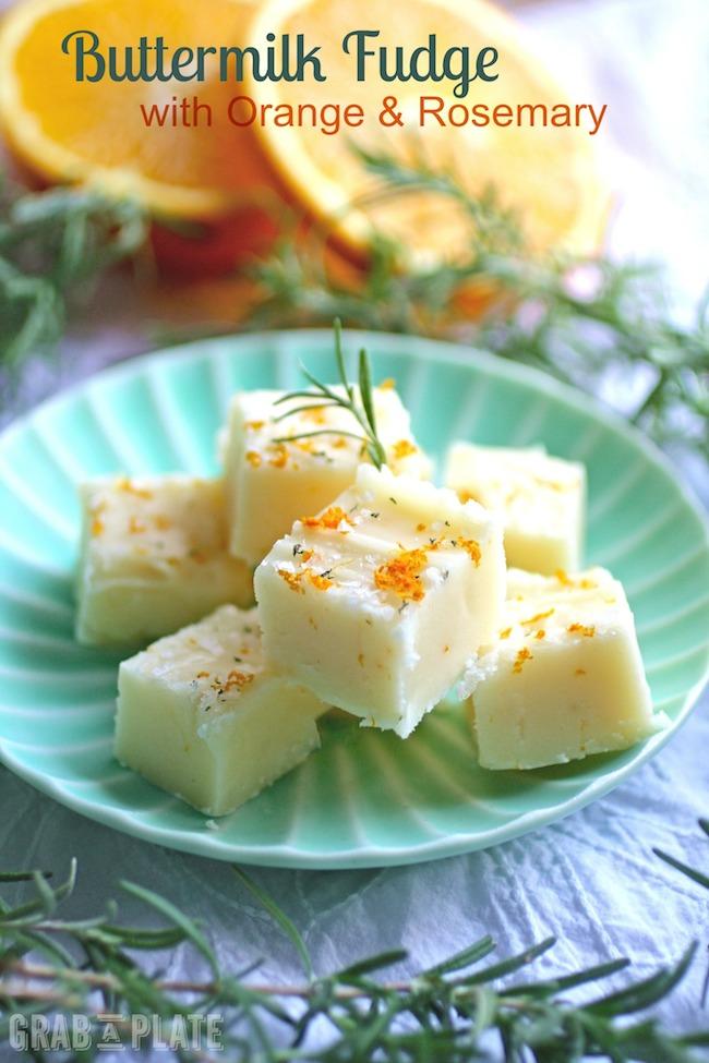 Buttermilk Fudge with Orange & Rosemary
