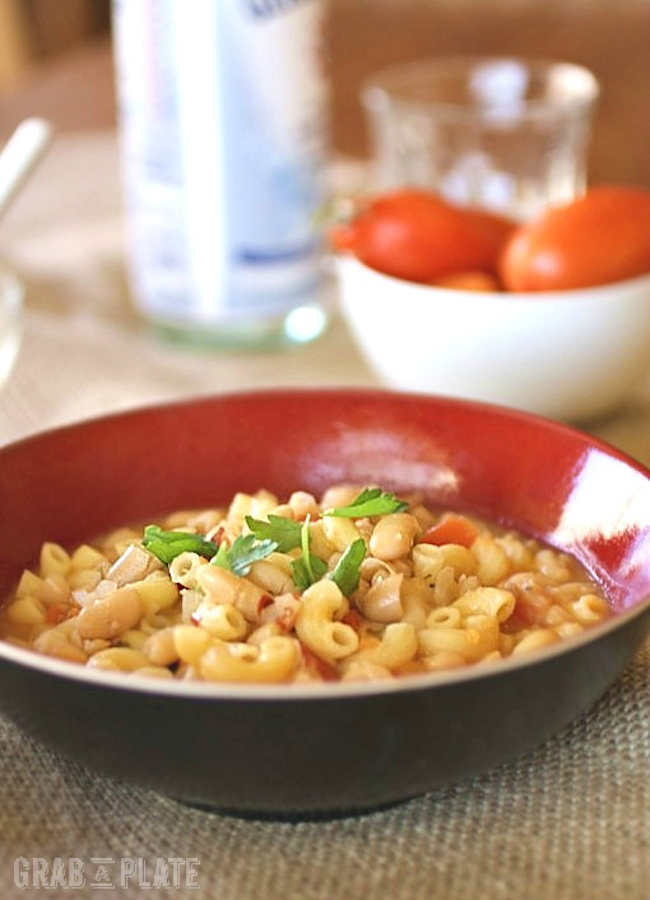 Pasta e Fagioli (Pasta and Beans) is a delicious Italian dish