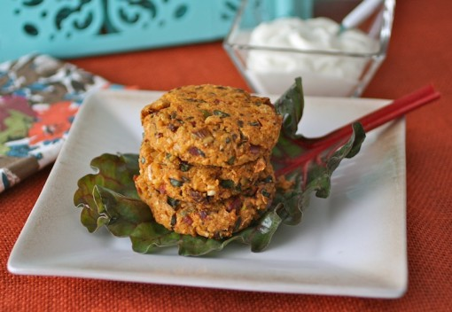 Chickpea-Quinoa Burgers with Sun Dried Tomatoes