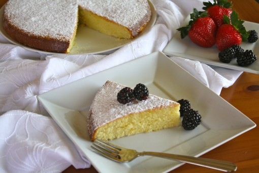 Citrus-Scented Wine Cake with Fresh Berries