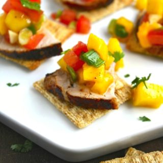 You'll love Pork Tenderloin Bites with Mango Salsa as a hearty and flavorful appetizer!