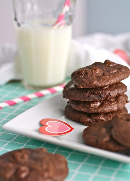 Rich and delicious: Dark Chocolate Brownie Drop Cookies