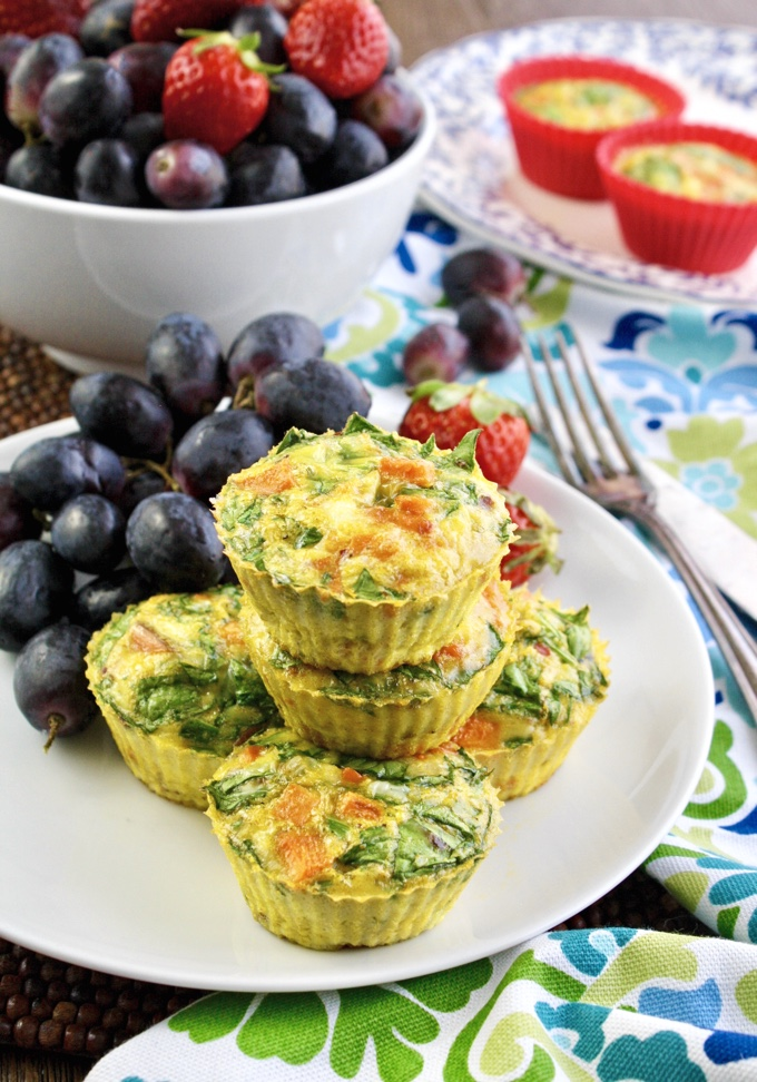 Curried Sweet Potato-Spinach Egg Muffin Cups are perfect for any meal. They're so east to make, too!