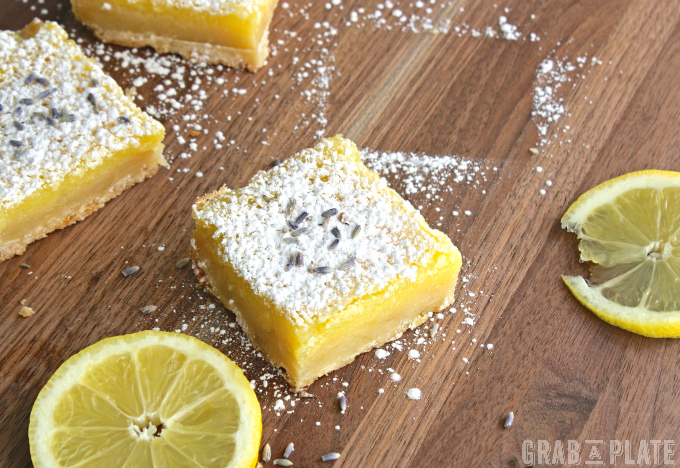 Lemon Squares with Lavender & Limoncello make a fabulous dessert!