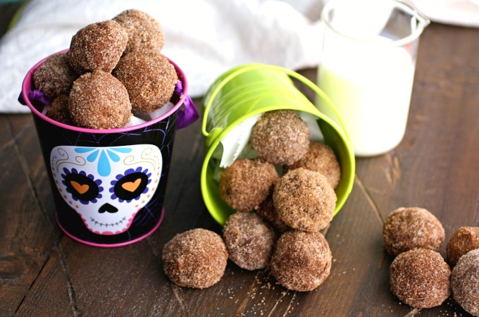 This recipe for Cinnamon-Sugar Coated Chocolate Donut Holes makes the right amount to share, and to keep some for yourself!