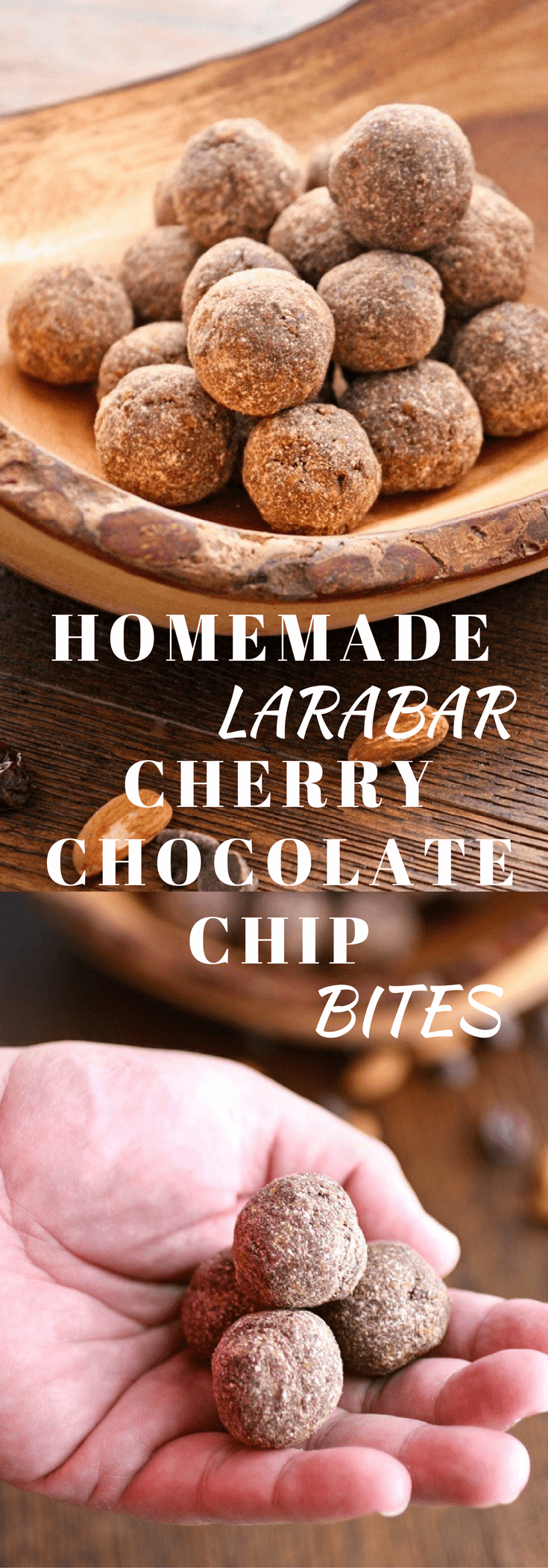 Homemade Larabar Cherry Chocolate Chip Bites are perfet to satisfy any snack attack! They're healthy, and easy to make, too!