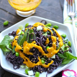 You'll love this easy-to-make Cold Noodle Salad with Carrot-Ginger Dressing!