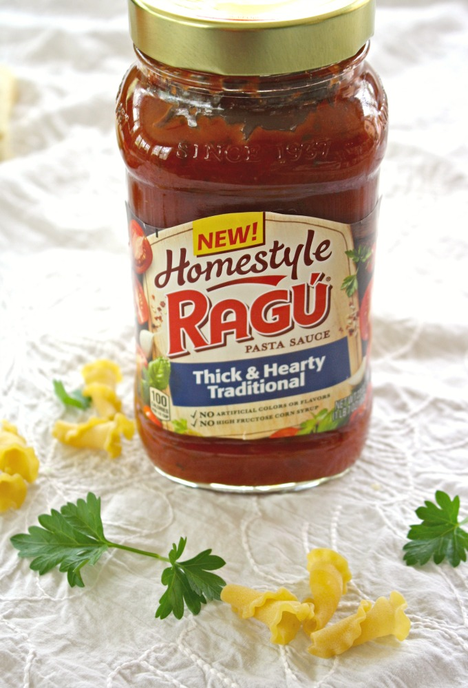 Ragu Homestyle pasta sauces are fab with a dish like pasta with asparagus and pancetta!