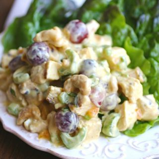 It's easy to pull together a flavorful salad: you'll love Easy Coronation Chicken Salad for your next meal!