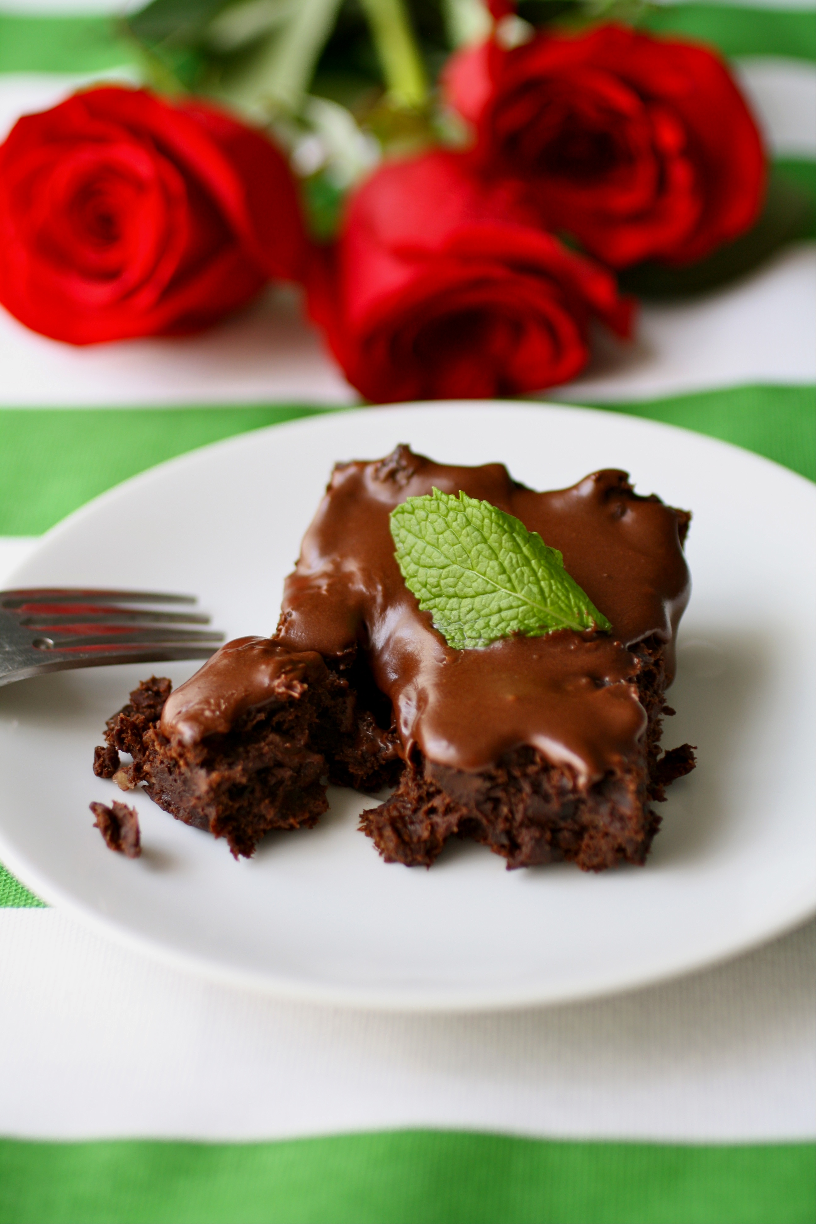 Frosted Mint Julep Black Bean Brownies (dairy free)