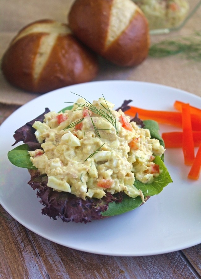 Tuna and Egg Salad with Fennel