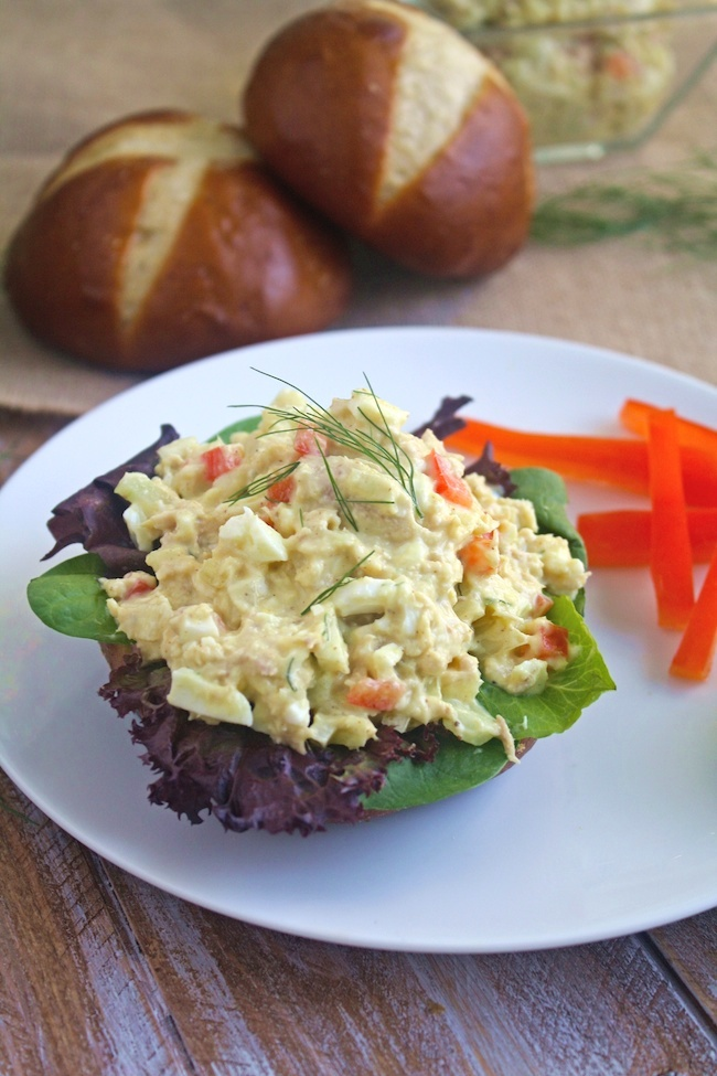 Tuna and Egg Salad with Fennel is full-flavored goodness