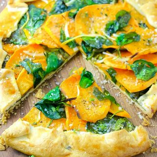 Sweet Potato and Spinach Galette is a simple and delicious, meatless dish. Make this Sweet Potato and Spinach Galette for an easy meal.