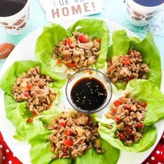 Touchdown Turkey Lettuce Wraps are perfect for game-day snacking! You'll love adding Touchdown Turkey Lettuce Wraps to your game-day menu!