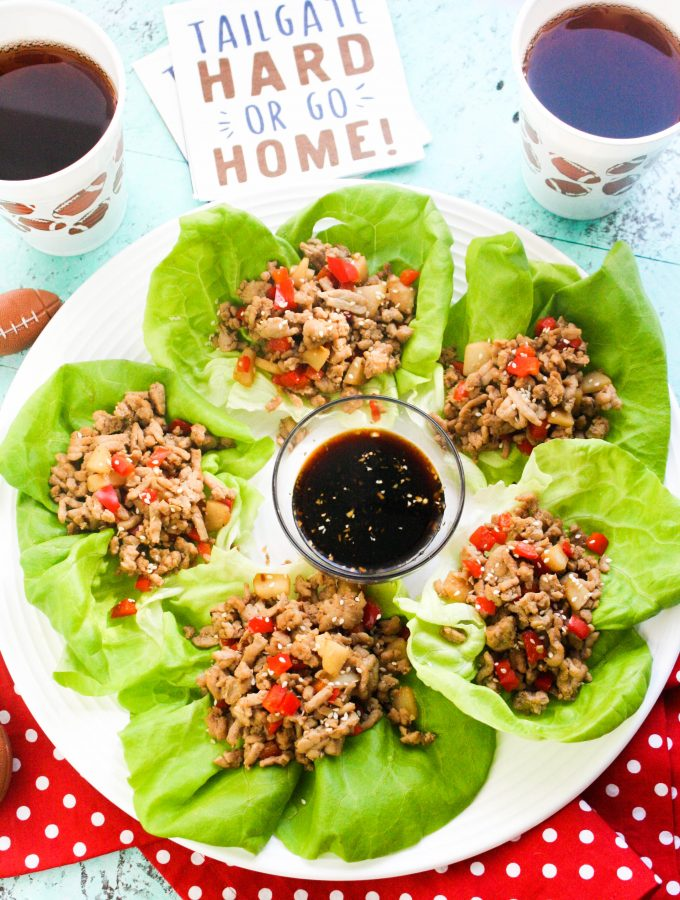 Touchdown Turkey Lettuce Wraps