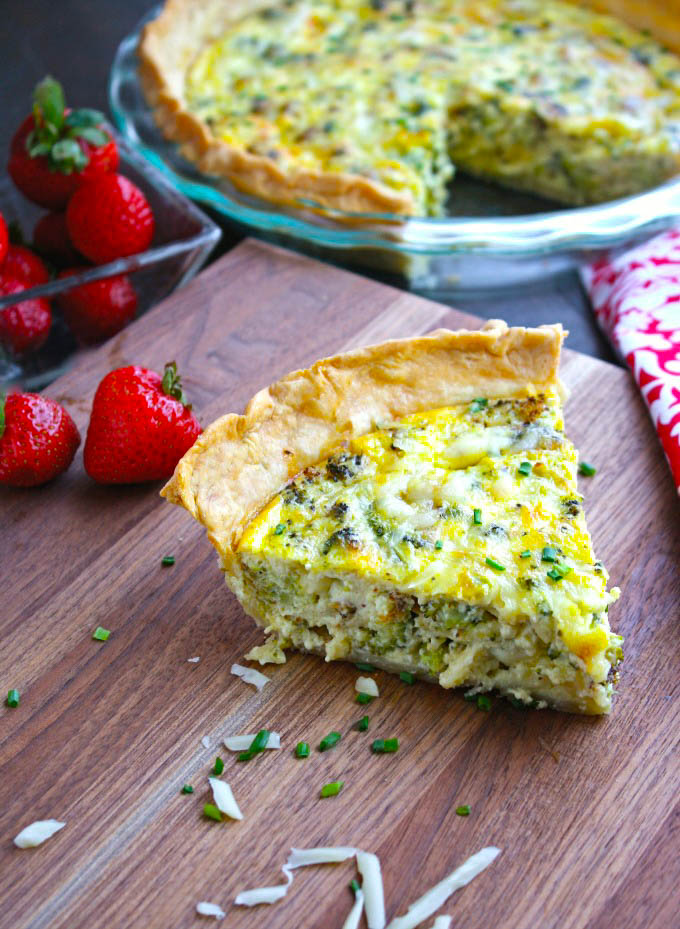Roasted Broccoli and Swiss Quiche is a delightful dish for brunch or dinner. Roasted Broccoli and Swiss Quiche is a delight for any meal, and it's easy to make. too.