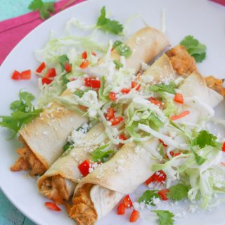 Baked Chicken and Green Chile Taquitos are a restaurant favorite that are easy (and baked) to make at home. Baked Chicken and Green Chile Taquitos are a great snack or light meal option.