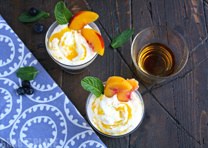 Peach Fool with Bourbon is a simple treat with big flavor!