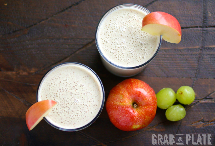 It's easy to make a good-for-you breakfast this season. Green Grape, Apple, and Cinnamon Smoothies only take a few ingredients!