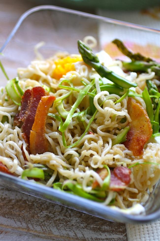 Ramen noodles mazemen style