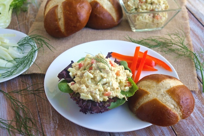 Tuna and Egg Salad with Fennel is a tasty dish fit for bread or salad greens