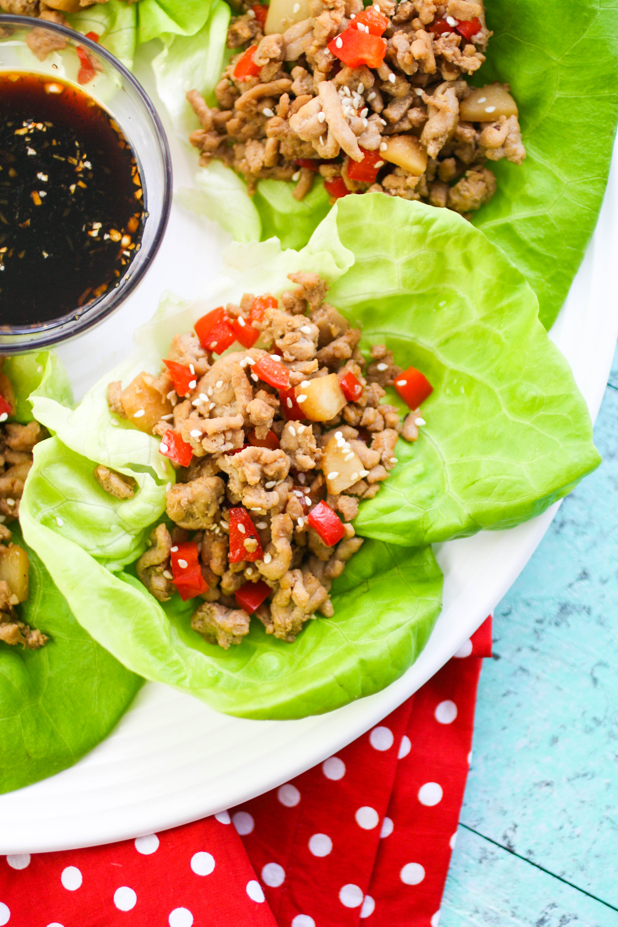 Touchdown Turkey Lettuce Wraps are fun to serve for game-day fun! Touchdown Turkey Lettuce Wraps are healthy and tasty -- perfect for a gathering!