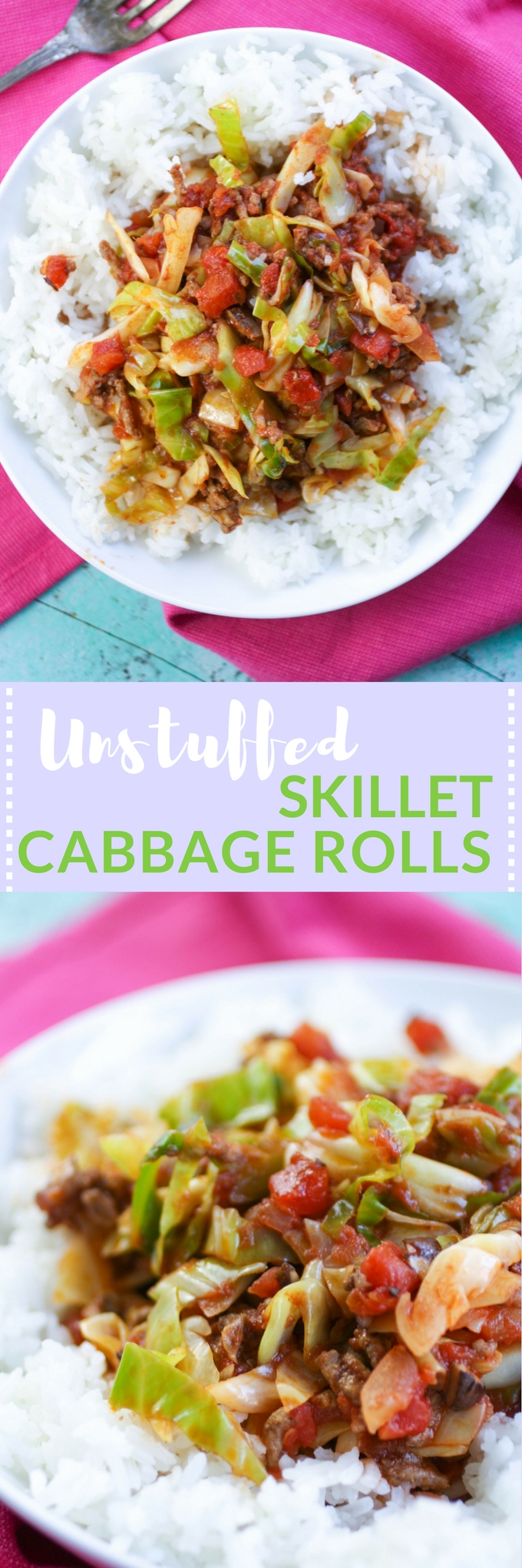 Unstuffed Skillet Cabbage Rolls is a dish you'll enjoy during the cold weather months. Unstuffed Skillet Cabbage Rolls is so easy to make, too! You'll love this comfort dish.